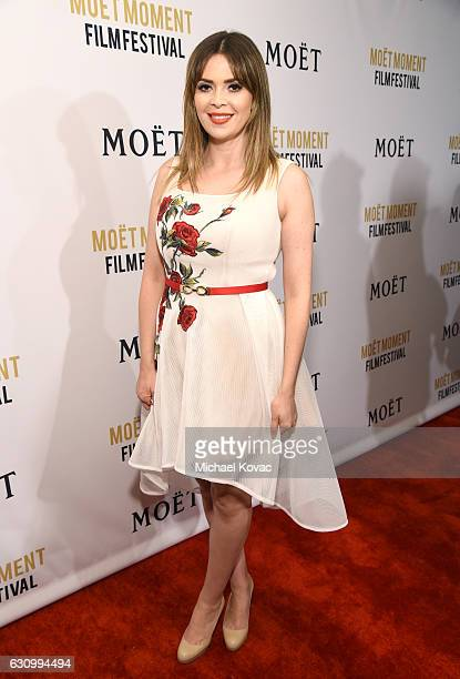 TV personality Carly Steel attends Moet Chandon Celebrates The 2nd Annual Moet Moment Film Festival and Kicks off Golden Globes Week at Doheny Room...