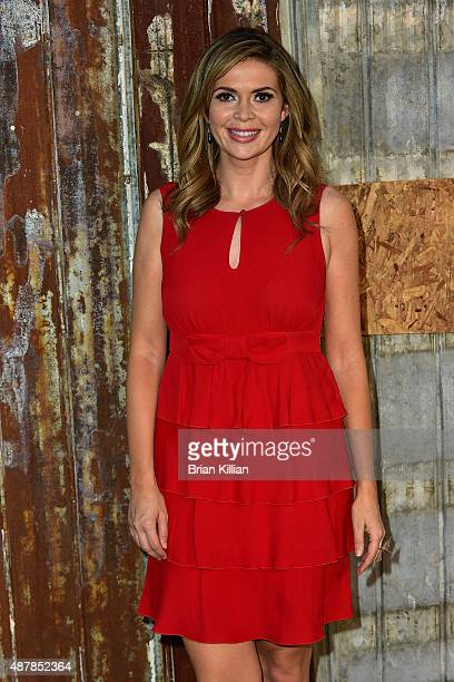 TV personality Carly Steel attends the Givenchy show during Spring 2016 New York Fashion Week at Pier 26 on September 11 2015 in New York City