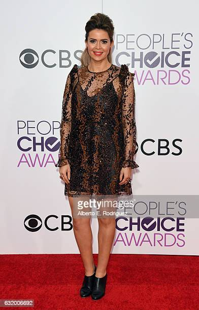 TV personality Carly Steel attends the People's Choice Awards 2017 at Microsoft Theater on January 18 2017 in Los Angeles California