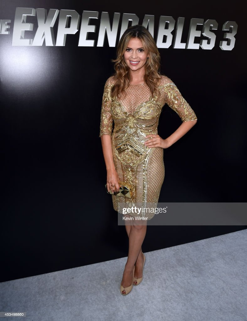 TV personality Carly Steel attends the premiere of Lionsgate Films' 'The Expendables 3' at TCL Chinese Theatre on August 11 2014 in Hollywood...