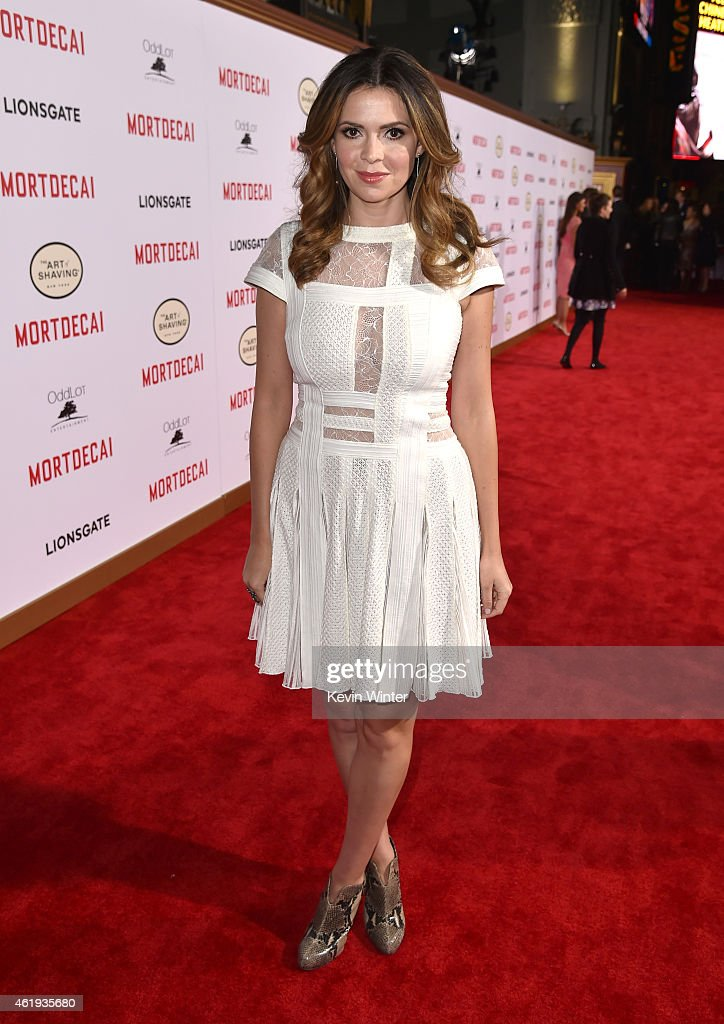 TV personality Carly Steel attends the premiere of Lionsgate's 'Mortdecai' at TCL Chinese Theatre on January 21 2015 in Hollywood California