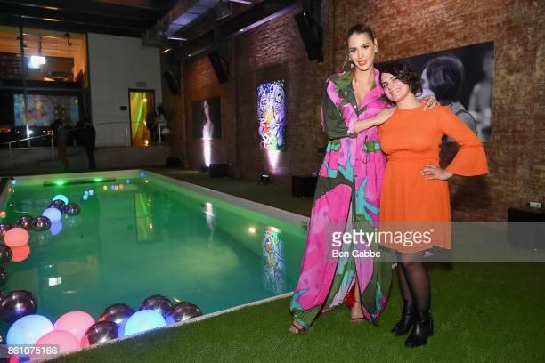 TV personality Carmen Carrera and Rocio Marin attend Spotify's Soundtrack de Mi Vida Campaign Celebration on October 13 2017 in New York City