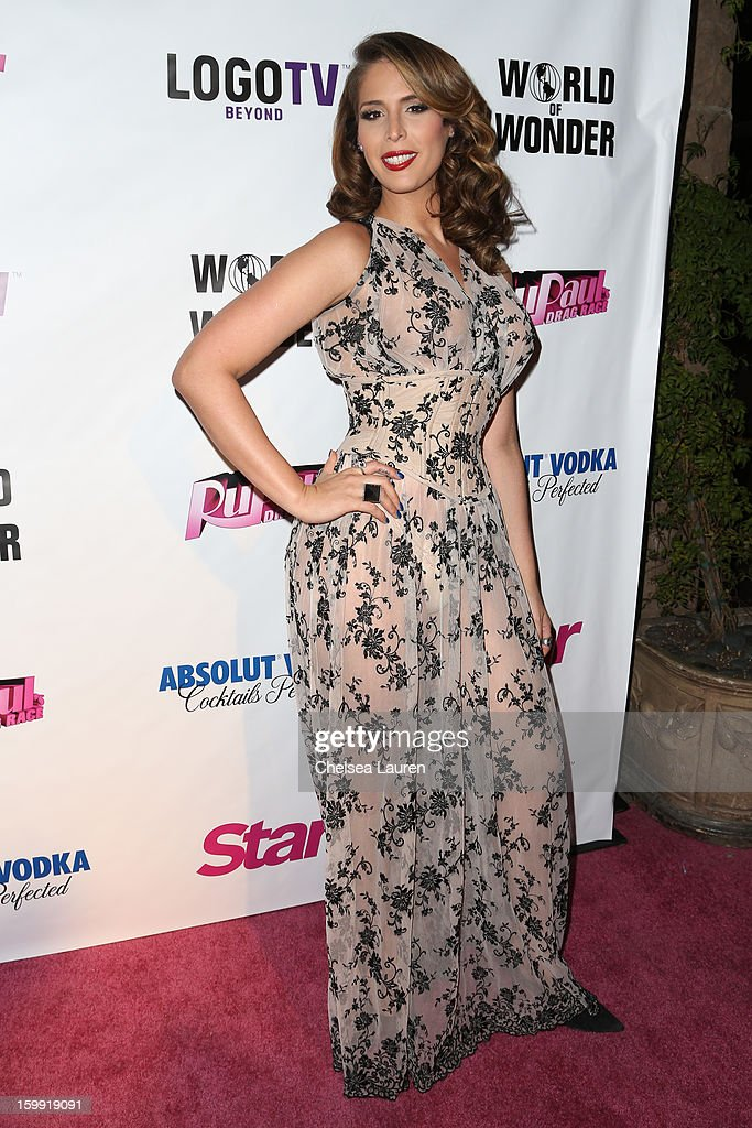 TV personality Carmen Carrera arrives at 'Rupaul's Drag Race' season 5 premiere party at The Abbey on January 22, 2013 in West Hollywood, California.