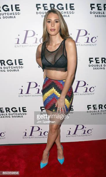 TV personality Carmen Carrera attends the 'Fergie Double Dutchess Seeing Double the Visual Experience' onenight premiere at iPic Fulton Market on...