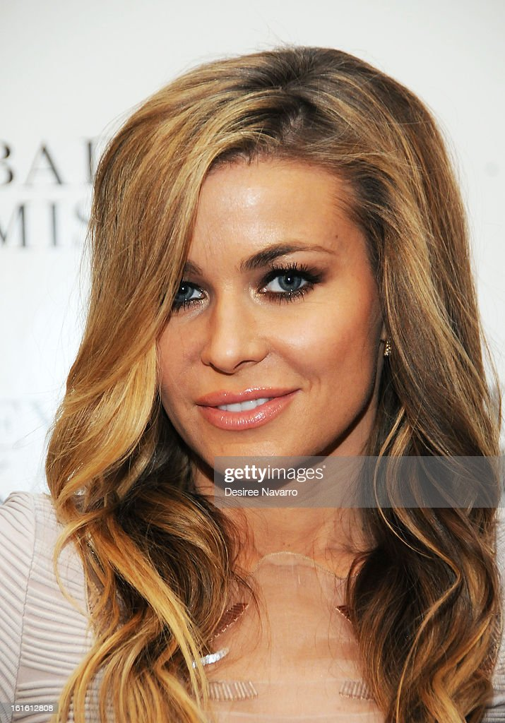 TV Personality <a gi-track='captionPersonalityLinkClicked' href=/galleries/search?phrase=Carmen+Electra&family=editorial&specificpeople=171242 ng-click='$event.stopPropagation()'>Carmen Electra</a> attends Badgley Mischka during Fall 2013 Mercedes-Benz Fashion Week at The Theatre at Lincoln Center on February 12, 2013 in New York City.