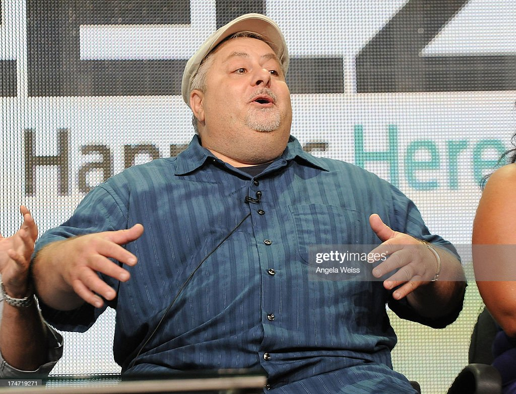TV personality Carmine Perelli speaks onstage during 'The Capones' panel discussion at the ReelzChannel portion of the 2013 Summer Television Critics Association tour at The Beverly Hilton Hotel on July 28, 2013 in Beverly Hills, California.