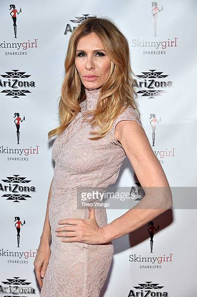 TV personality Carole Radziwill attends the Arizona Beverages SkinnyGirl Sparklers new flavor launch party hosted by TV personality Bethenny Frankel...