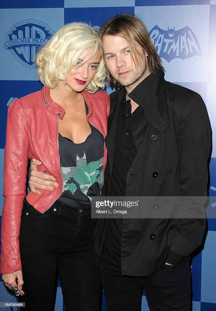 Personality Caroline D'Amore and husband attend the Warner Bros. Consumer Products And Junk Food Celebrate The Launch Of The Batman Classic TV Series Licensing Program held at Meltdown Comics and Collectibles on March 21, 2013 in Hollywood, California.