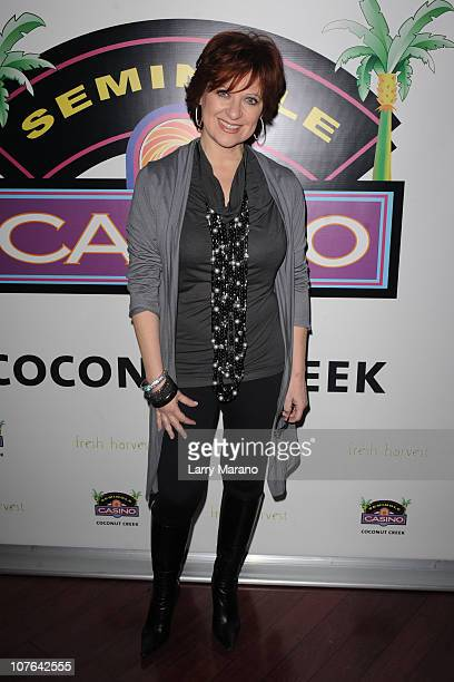 TV personality Caroline Manzo meets and greets fans at Seminole Casino Coconut Creek on December 16 2010 in Coconut Creek Florida