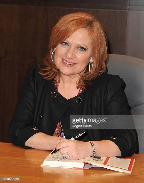 TV personality Caroline Manzo signs copies of her new book 'Let Me Tell You Something' at Barnes Noble bookstore at The Grove on March 28 2013 in Los...
