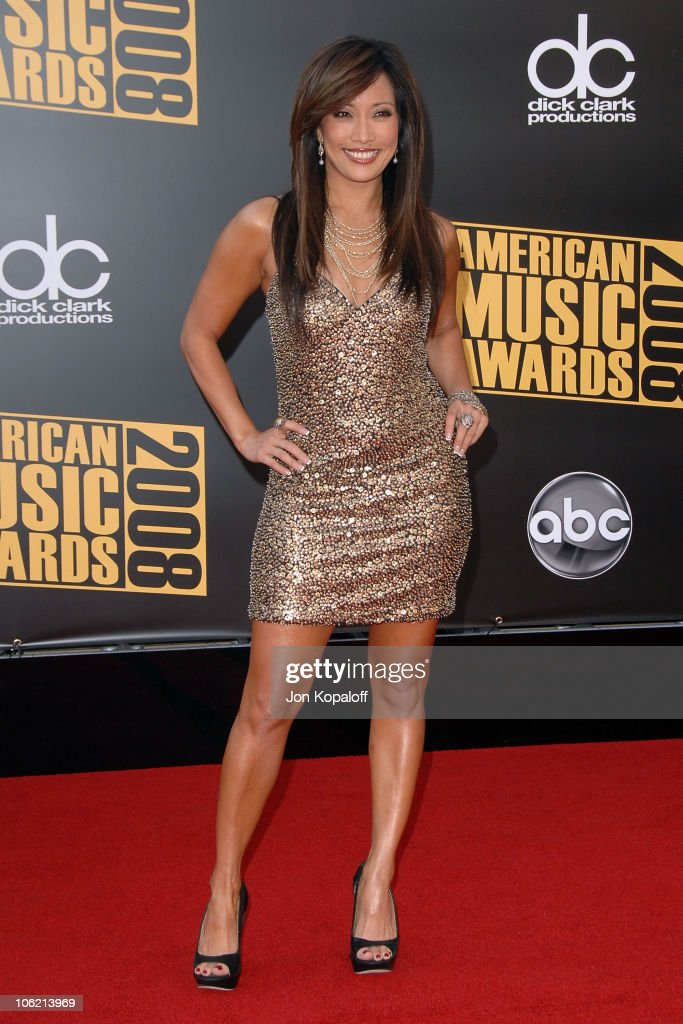 TV personality Carrie Ann Inaba arrives at the 2008 American Music Awards held at Nokia Theatre LA LIVE on November 23 2008 in Los Angeles California