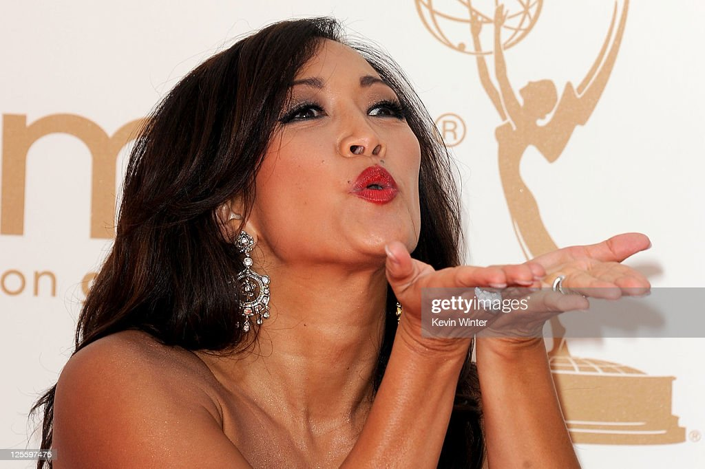 TV personality Carrie Ann Inaba arrives at the 63rd Annual Primetime Emmy Awards held at Nokia Theatre L.A. LIVE on September 18, 2011 in Los Angeles, California.