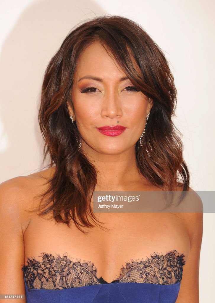 TV personality Carrie Ann Inaba arrives at the 65th Annual Primetime Emmy Awards at Nokia Theatre LA Live on September 22 2013 in Los Angeles...