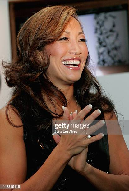 TV Personality Carrie Ann Inaba at Bryant Park during MercedesBenz Fashion Week Fall 2008 on February 5 2008 in New York City