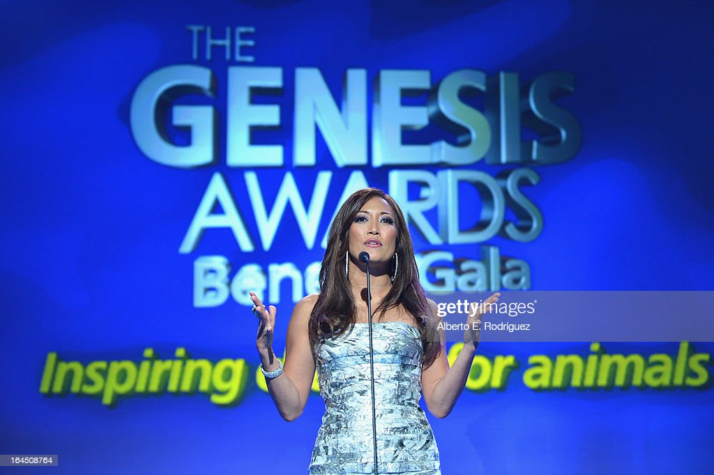 TV personality Carrie Ann Inaba attends the 2013 Genesis Awards Benefit Gala at The Beverly Hilton Hotel on March 23, 2013 in Beverly Hills, California.