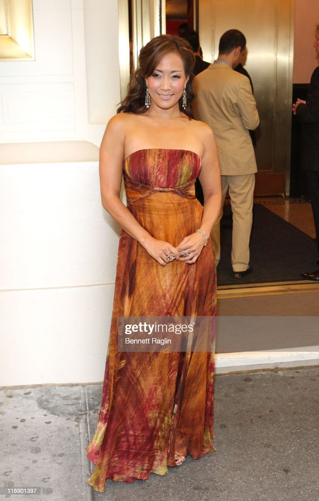 TV personality Carrie Ann Inaba attends the Broadway opening night of 'Burn The Floor' at the Longacre Theatre on August 2 2009 in New York City