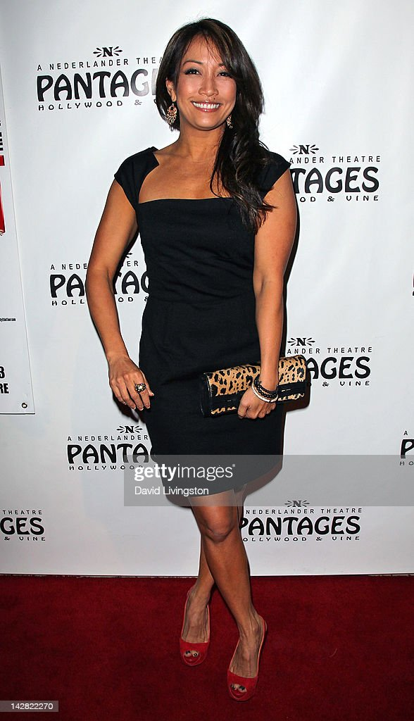 TV personality <a gi-track='captionPersonalityLinkClicked' href=/galleries/search?phrase=Carrie+Ann+Inaba&family=editorial&specificpeople=637379 ng-click='$event.stopPropagation()'>Carrie Ann Inaba</a> attends the opening night of 'Billy Elliot' at the Pantages Theatre on April 12, 2012 in Hollywood, California.