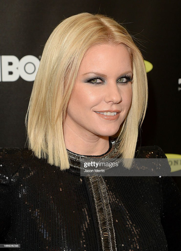 TV personality Carrie Keagan arrives at the 28th Annual Rock and Roll Hall of Fame Induction Ceremony at Nokia Theatre L.A. Live on April 18, 2013 in Los Angeles, California.