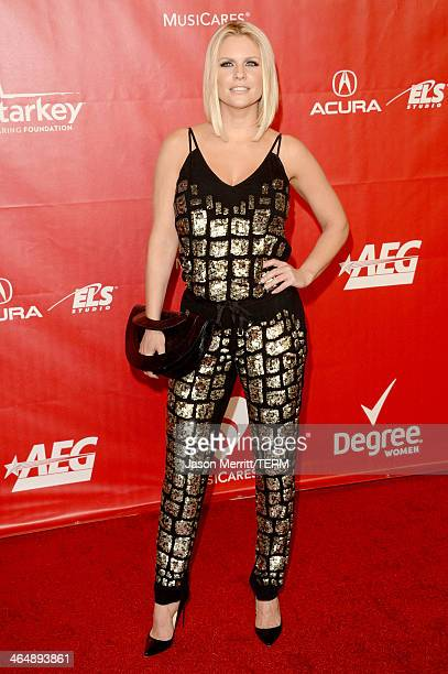 TV personality Carrie Keagan attends The 2014 MusiCares Person Of The Year Gala Honoring Carole King at Los Angeles Convention Center on January 24...