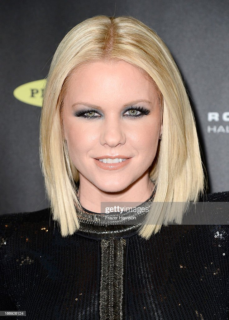 TV personality Carrie Keagan attends the 28th Annual Rock and Roll Hall of Fame Induction Ceremony at Nokia Theatre L.A. Live on April 18, 2013 in Los Angeles, California.