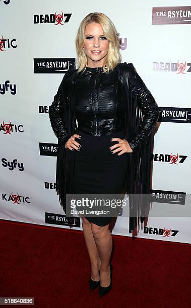 TV personality Carrie Keagan attends the premiere of Syfy's 'Dead 7' at Harmony Gold on April 1 2016 in Los Angeles California