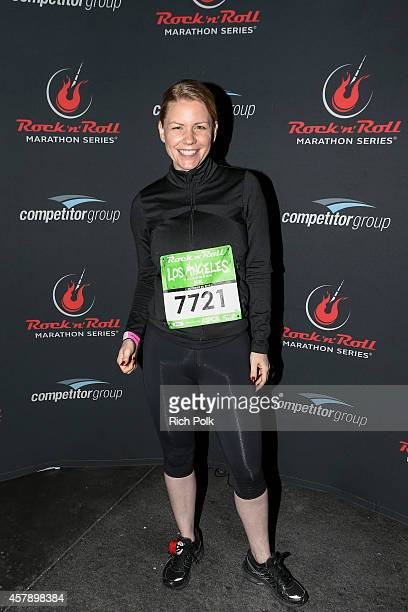 Personality Carrie Keagan participates in the Rock 'n' Roll Los Angeles Halloween HalfMarathon and 5K benefitting the ASPCA on October 26 2014 in Los...