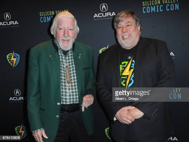 Personality Carroll Spinney of 'Sesame Street' and founder Steve Wozniak at The WOZ Party Meet and Greet with Silicon Valley Comic Con Founder Steve...