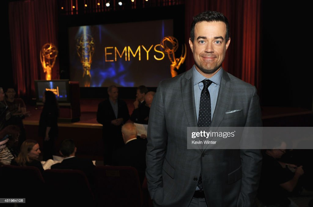 TV personality Carson Daly attends the 66th Primetime Emmy Awards Nominations at Leonard H Goldenson Theatre on July 10 2014 in North Hollywood...