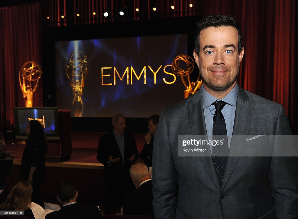 TV personality <a gi-track='captionPersonalityLinkClicked' href=/galleries/search?phrase=Carson+Daly&family=editorial&specificpeople=202941 ng-click='$event.stopPropagation()'>Carson Daly</a> attends the 66th Primetime Emmy Awards Nominations at Leonard H. Goldenson Theatre on July 10, 2014 in North Hollywood, California.