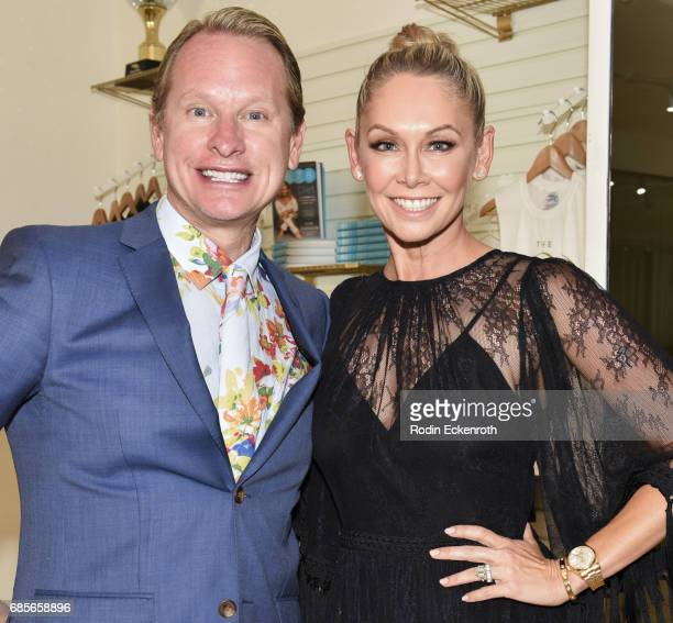 TV personality Carson Kressley and dancer Kym Herjavec attend her grand opening of The Bod on May 19 2017 in Beverly Hills California