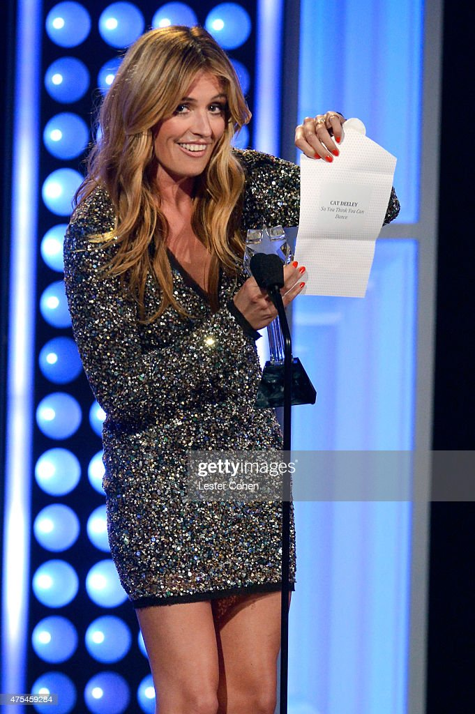 TV personality Cat Deeley accepts the Best Reality Series Host award for 'So You Think You Can Dance' onstage at the 5th Annual Critics' Choice...