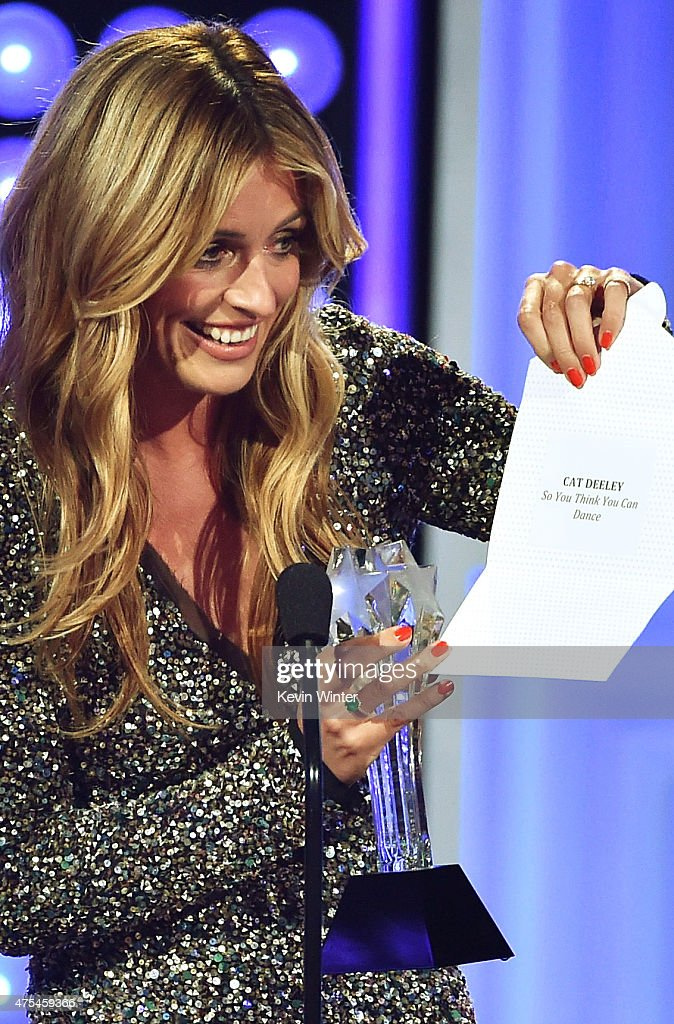 TV personality Cat Deeley accepts the Best Reality Show Host award for 'So You Think You Can Dance' onstage at the 5th Annual Critics' Choice...