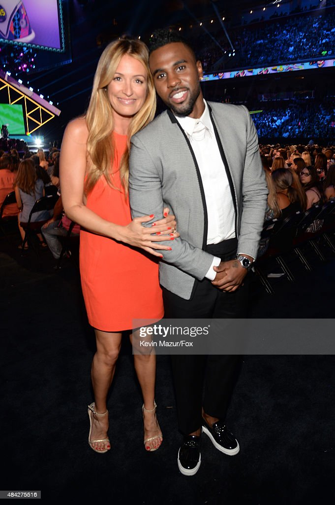TV personality Cat Deeley and recording artist Jason Derulo attend the Teen Choice Awards 2015 at the USC Galen Center on August 16 2015 in Los...