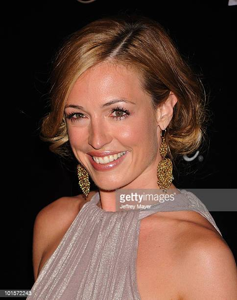 Personality Cat Deeley arrives at the 35th Annual Gracie Awards Gala at The Beverly Hilton hotel on May 25 2010 in Beverly Hills California