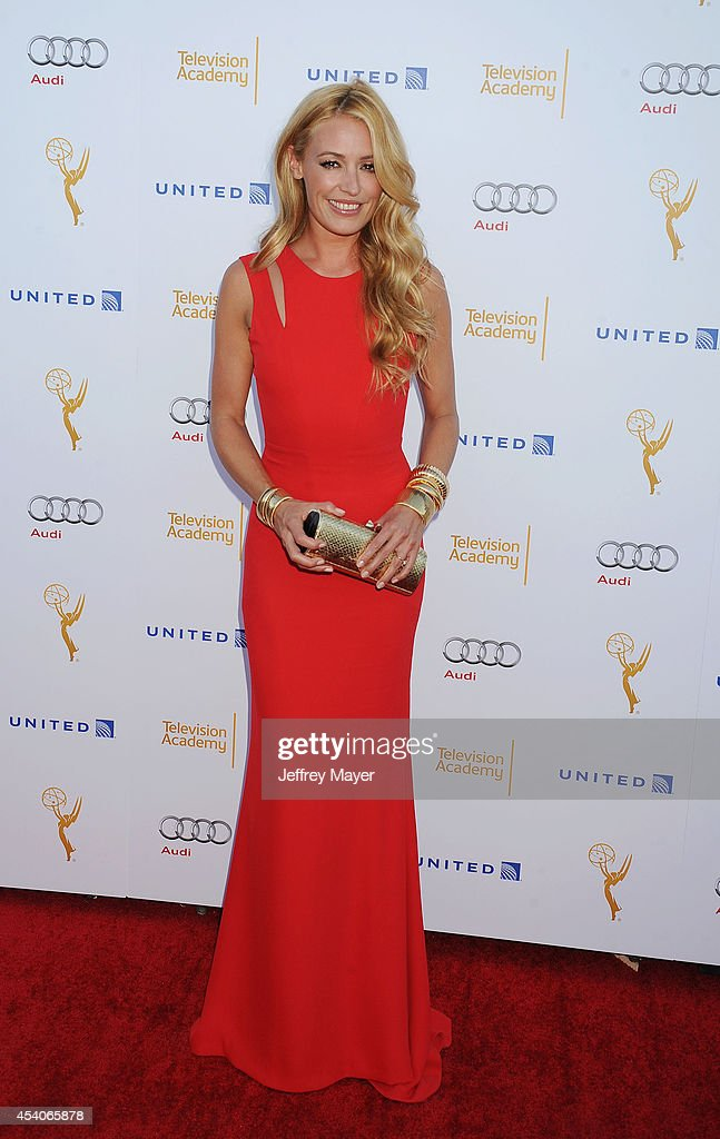 TV personality Cat Deeley arrives at the Television Academy's 66th Emmy Awards Performance Nominee Reception at the Pacific Design Center on Saturday, Aug. 23, 2014, in West Hollywood, California.