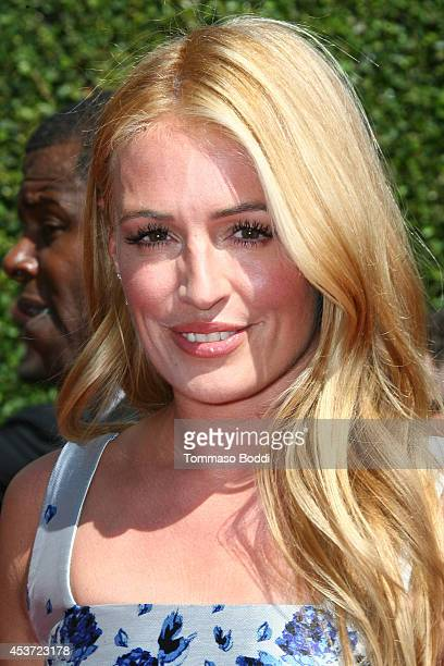 TV personality Cat Deeley attends the 2014 Creative Arts Emmy Awards held at the Nokia Theatre LA Live on August 16 2014 in Los Angeles California