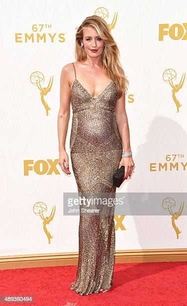 TV personality Cat Deeley attends the 67th Annual Primetime Emmy Awards at Microsoft Theater on September 20 2015 in Los Angeles California