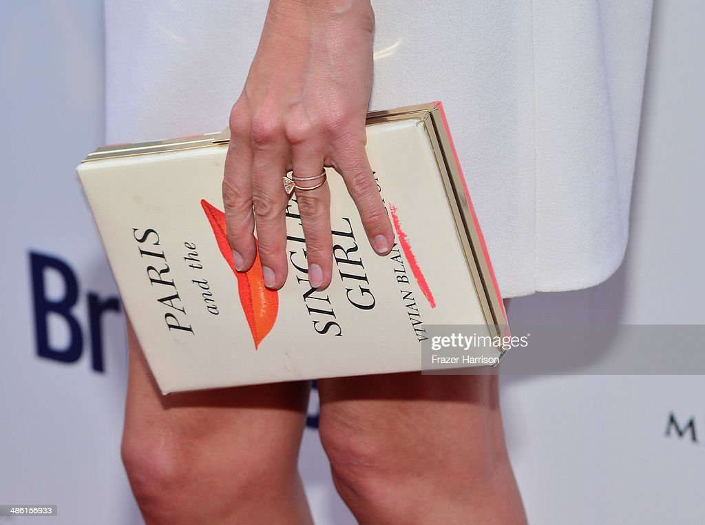 TV personality Cat Deeley (clutch detail) attends the 8th Annual BritWeek Launch Party at a private residence on April 22, 2014 in Los Angeles, California.