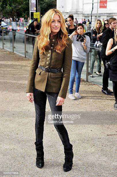 TV personality Cat Deeley attends the Burberry Prorsum Spring/Summer 2011 fashion show during LFW at Chelsea College of Art and Design on September...