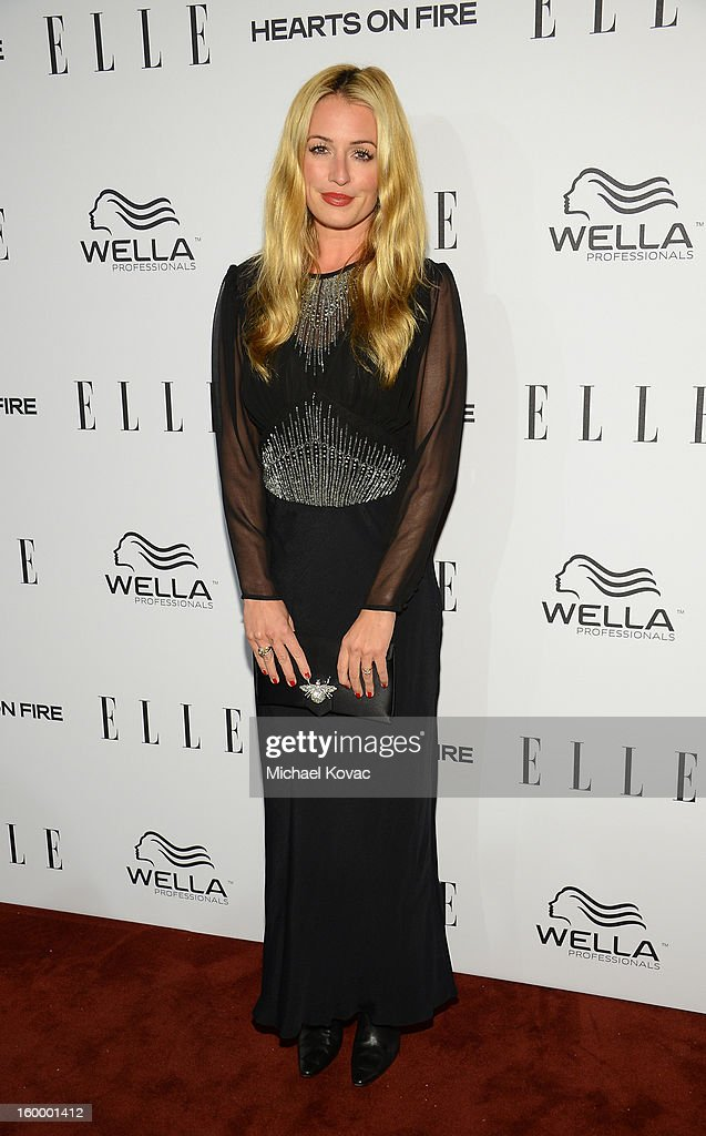 TV personality <a gi-track='captionPersonalityLinkClicked' href=/galleries/search?phrase=Cat+Deeley&family=editorial&specificpeople=202554 ng-click='$event.stopPropagation()'>Cat Deeley</a> attends the ELLE's Women in Television Celebration at Soho House on January 24, 2013 in West Hollywood, California.