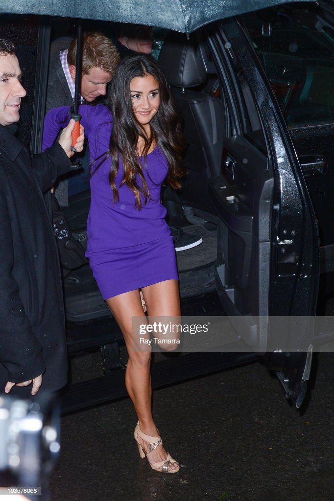 TV personality Catherine Giudici enters the 'Good Morning America' taping at the ABC Times Square Studios on March 12, 2013 in New York City.