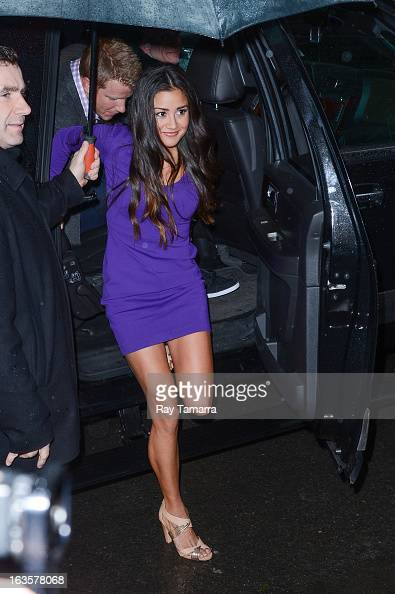 TV personality Catherine Giudici enters the 'Good Morning America' taping at the ABC Times Square Studios on March 12 2013 in New York City