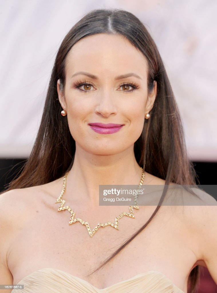 TV personality Catt Sadler arrives at the Oscars at Hollywood & Highland Center on February 24, 2013 in Hollywood, California.