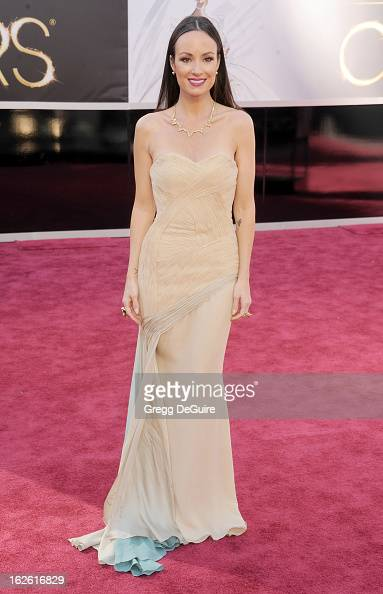 TV personality Catt Sadler arrives at the Oscars at Hollywood Highland Center on February 24 2013 in Hollywood California