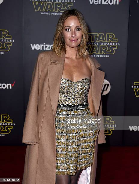TV personality Catt Sadler arrives at the premiere of Walt Disney Pictures' and Lucasfilm's 'Star Wars The Force Awakens' at the Dolby Theatre TCL...