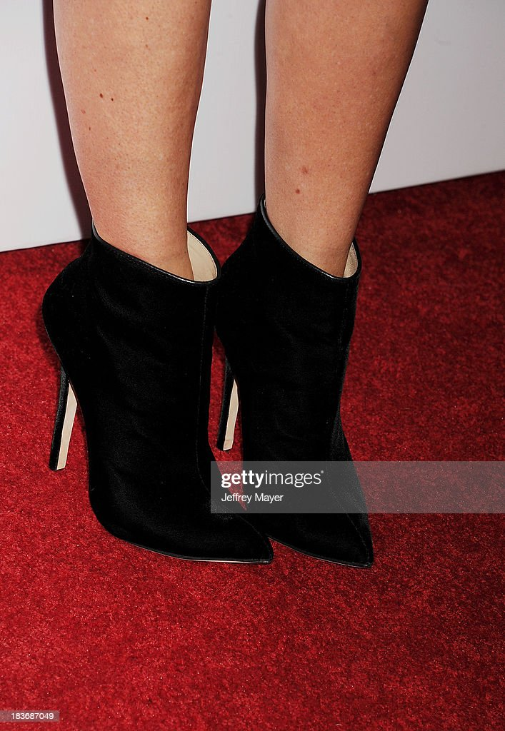 TV personality Catt Sadler (shoe detail) at the Tacori's Annual Club Tacori 2013 Event at Greystone Manor Supperclub on October 8, 2013 in West Hollywood,