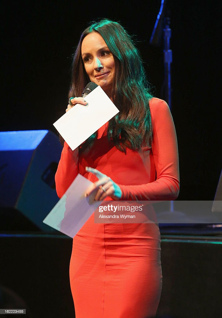 TV personality Catt Sadler speaks onstage at Global Green USA's 10th Annual Pre-Oscar Party at Avalon on February 20, 2013 in Hollywood, California.