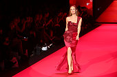 TV personality Catt Sadler walks the runway during the Go Red For Women fall 2015 fashion show on February 12 2015 in New York City