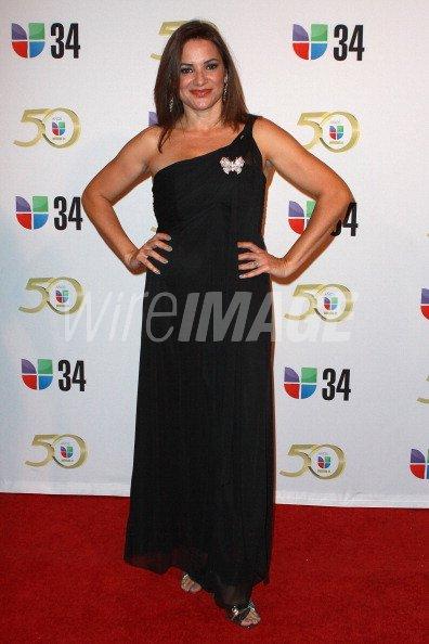 Personality Cecilia Bogran attends KMEX Univision 34 50th
