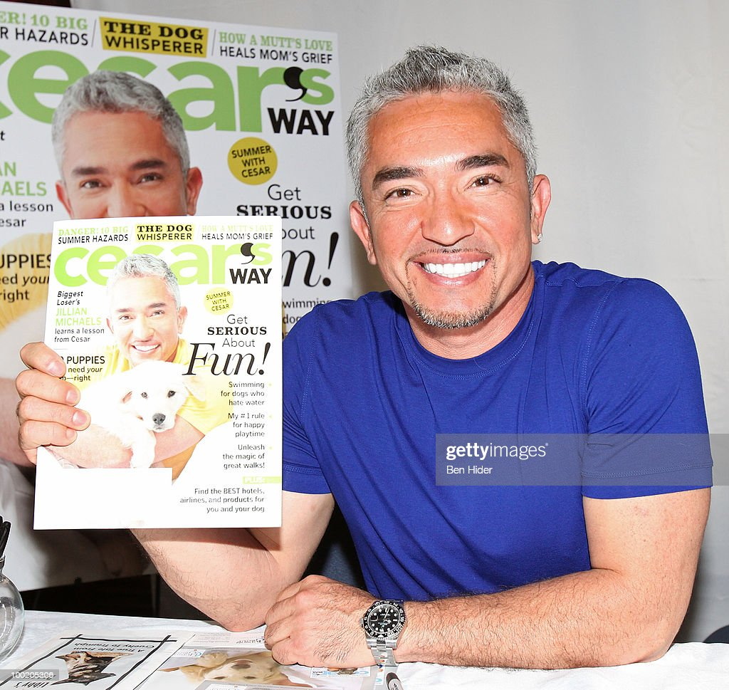 Personality Cesar Milan promotes 'Cesar's Way' magazine at Grand Central Station on May 21 2010 in New York City